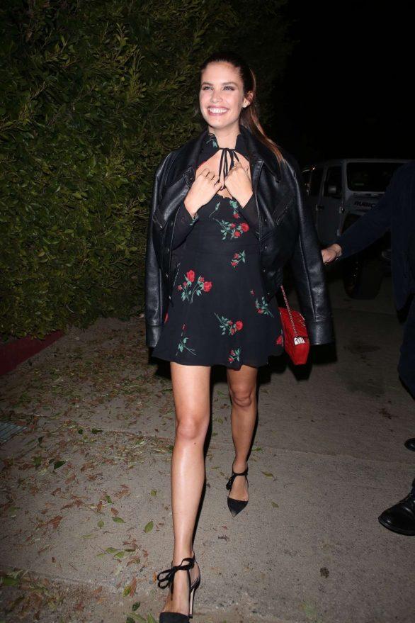 Sara Sampaio arrives at the WME Pre-Oscars Party 2020