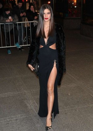 Sara Sampaio - Arrives at V Magazine Party 2016 NYFW in NYC