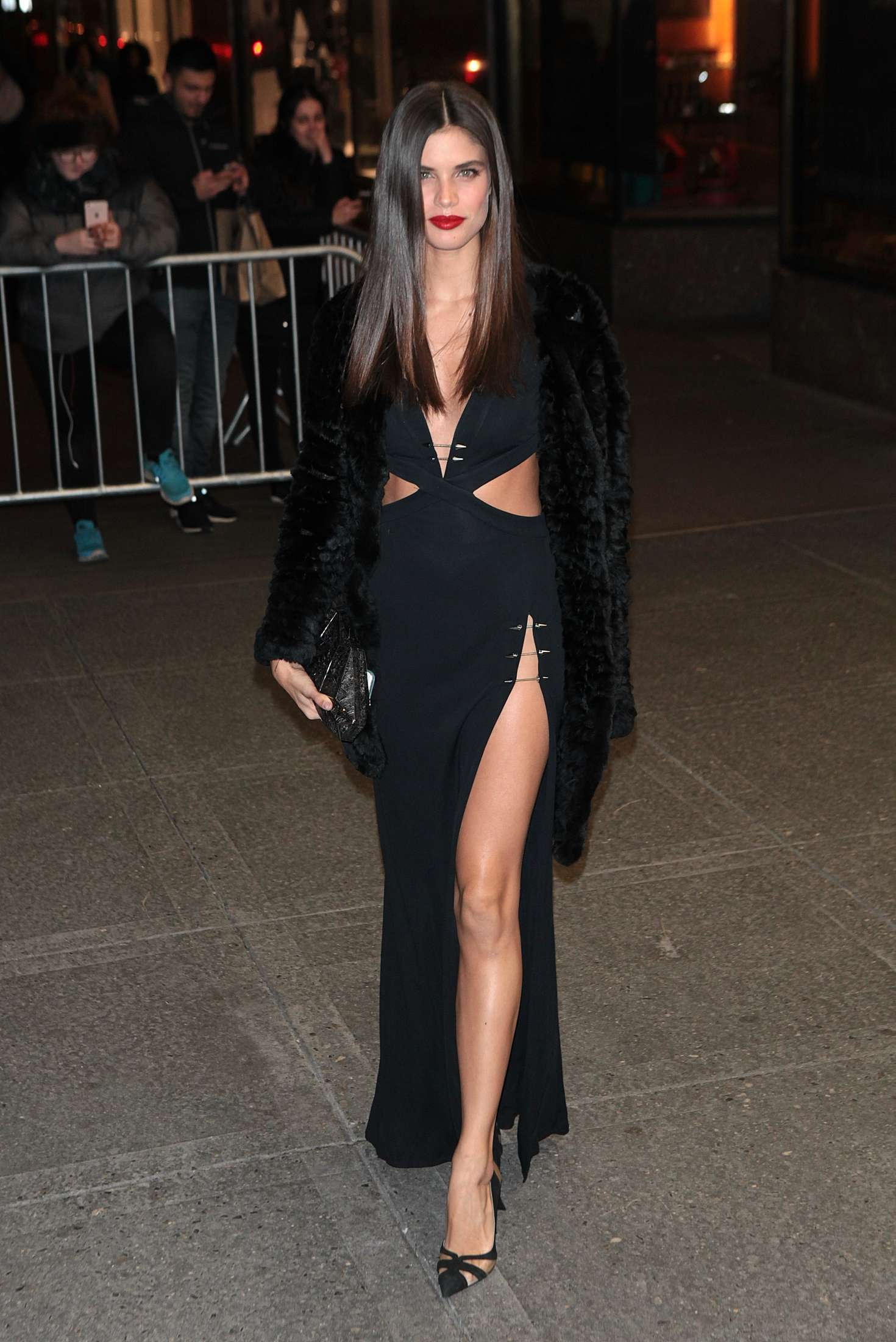 Sara Sampaio - Arrives at V Magazine Party 2016 NYFW in NYC
