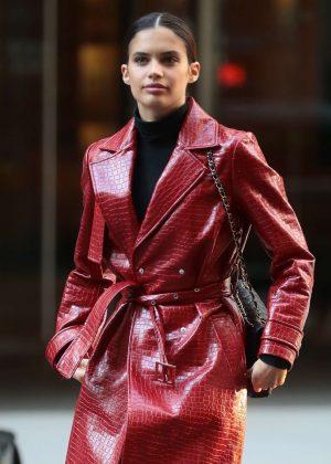 Sara Sampaio - Arrives at Victoria's Secret Headquarters in New York