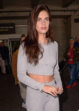 Sara Sampaio - Arriving at Nice Airport