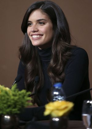 Sara Sampaio at Blue Douro Ship press conference in Lisbon