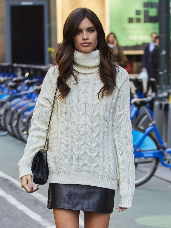Sara Sampaio at Victoria's Secret Fashion Show Fittings in NYC