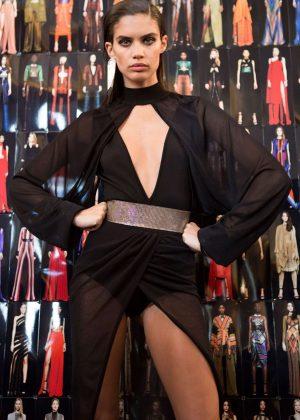 Sara Sampaio - Balmain Fashion Show SS17 in Paris
