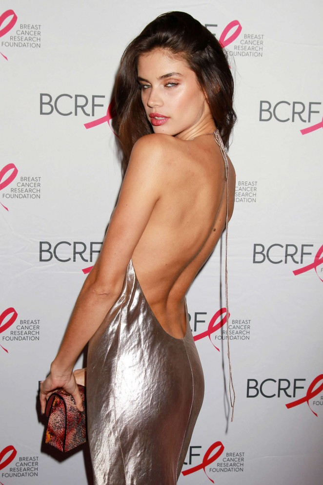 Sara Sampaio: Breast Cancer Research Foundation Hot Pink Party -07