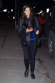 Sara Sampaio - Departing a Victoria's Secret photoshoot at Milk Studios in New York