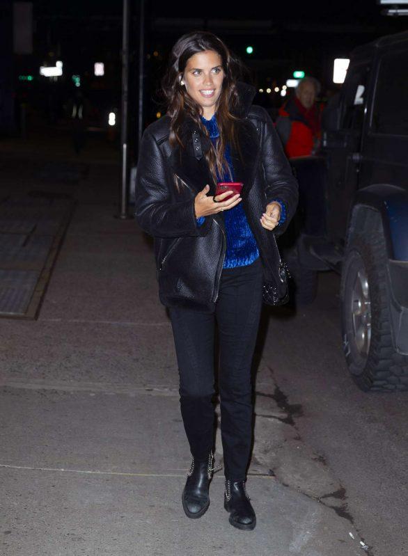 Sara Sampaio - Departing a Victoria's Secret photoshoot at Milk Studios in New York