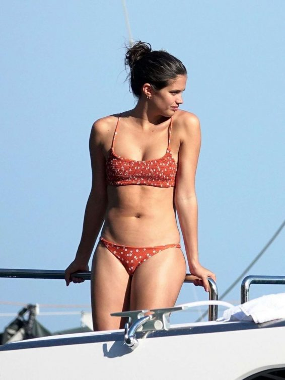 Sara Sampaio in Bikini on holiday in Capri