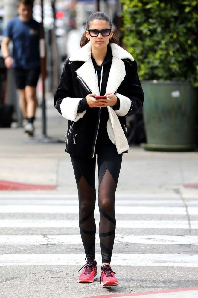 Sara Sampaio in Tights out in West Hollywood