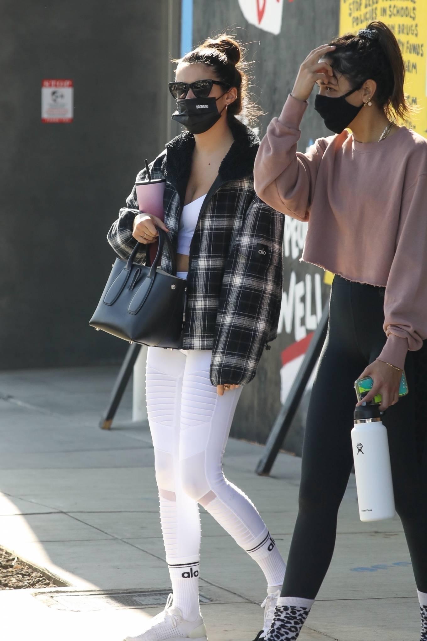 Sara Sampaio 2020 : Sara Sampaio – In white leggings heads to the gym in Los Angeles-14