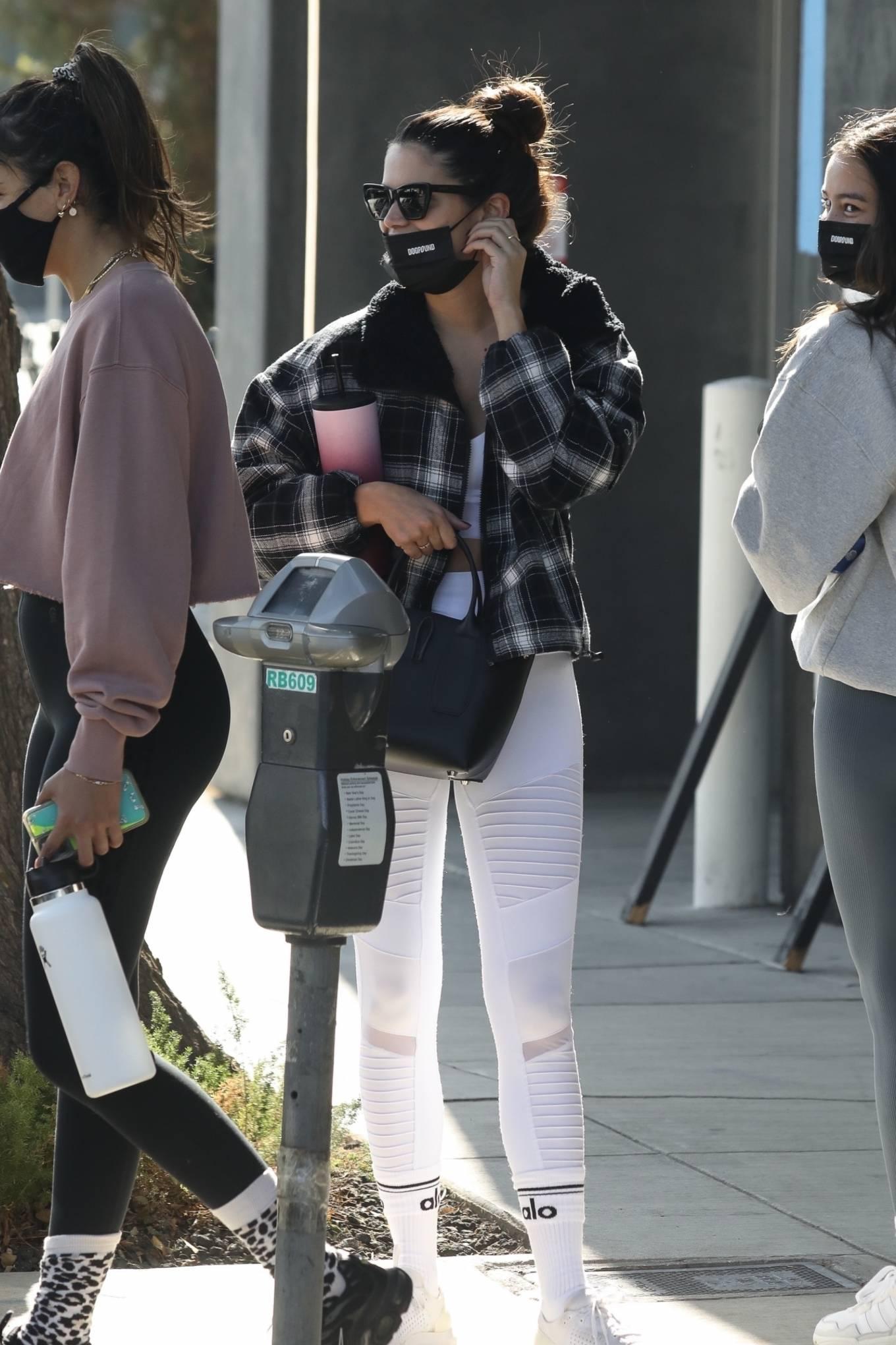 Sara Sampaio 2020 : Sara Sampaio – In white leggings heads to the gym in Los Angeles-24