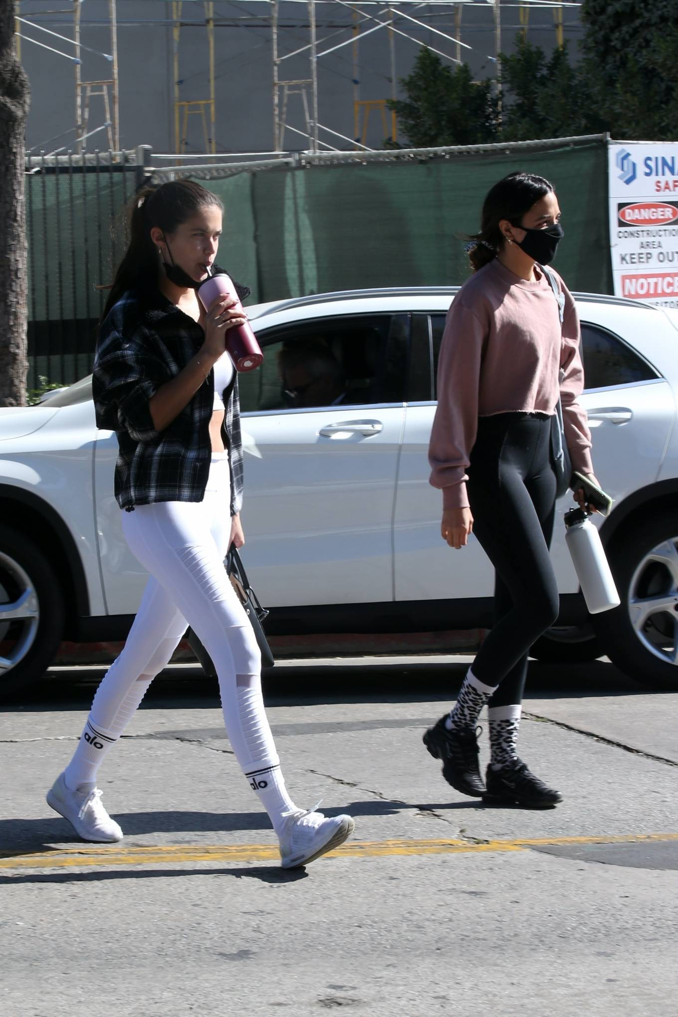 Sara Sampaio 2020 : Sara Sampaio – In white leggings heads to the gym in Los Angeles-36