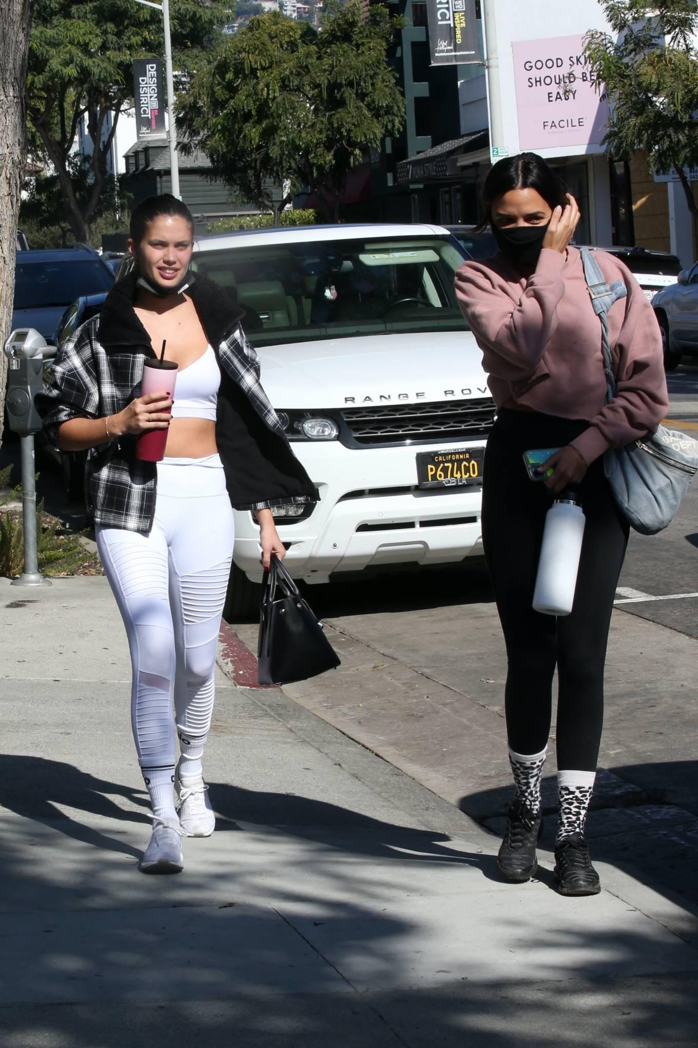 Sara Sampaio 2020 : Sara Sampaio – In white leggings heads to the gym in Los Angeles-40