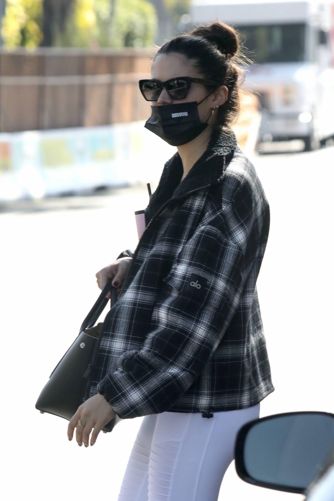Sara Sampaio 2020 : Sara Sampaio – In white leggings heads to the gym in Los Angeles-41