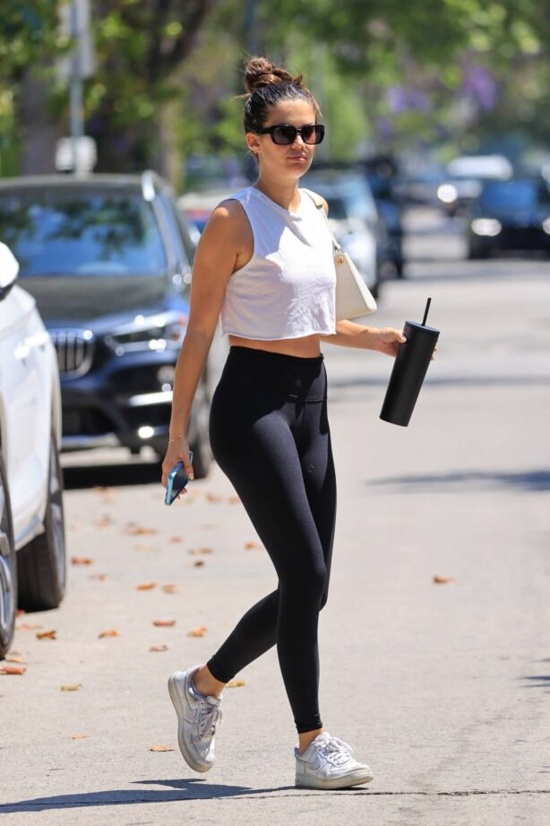 Sara Sampaio - In yoga pants out for workout in West Hollywood