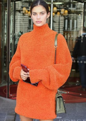 Sara Sampaio - Leaves Royal Monceau hotel in Paris
