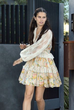 Sara Sampaio - Leaving a friends house in Los Angeles
