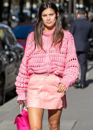 Sara Sampaio - Out at Paris Fashion Week in Paris