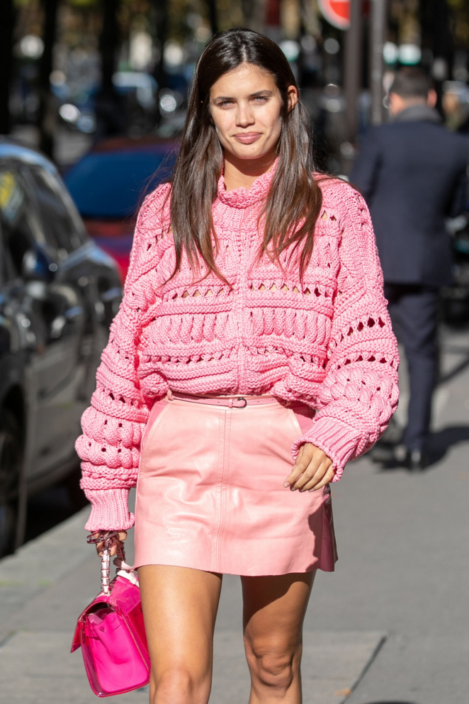 Sara Sampaio – Out at Paris Fashion Week in Paris