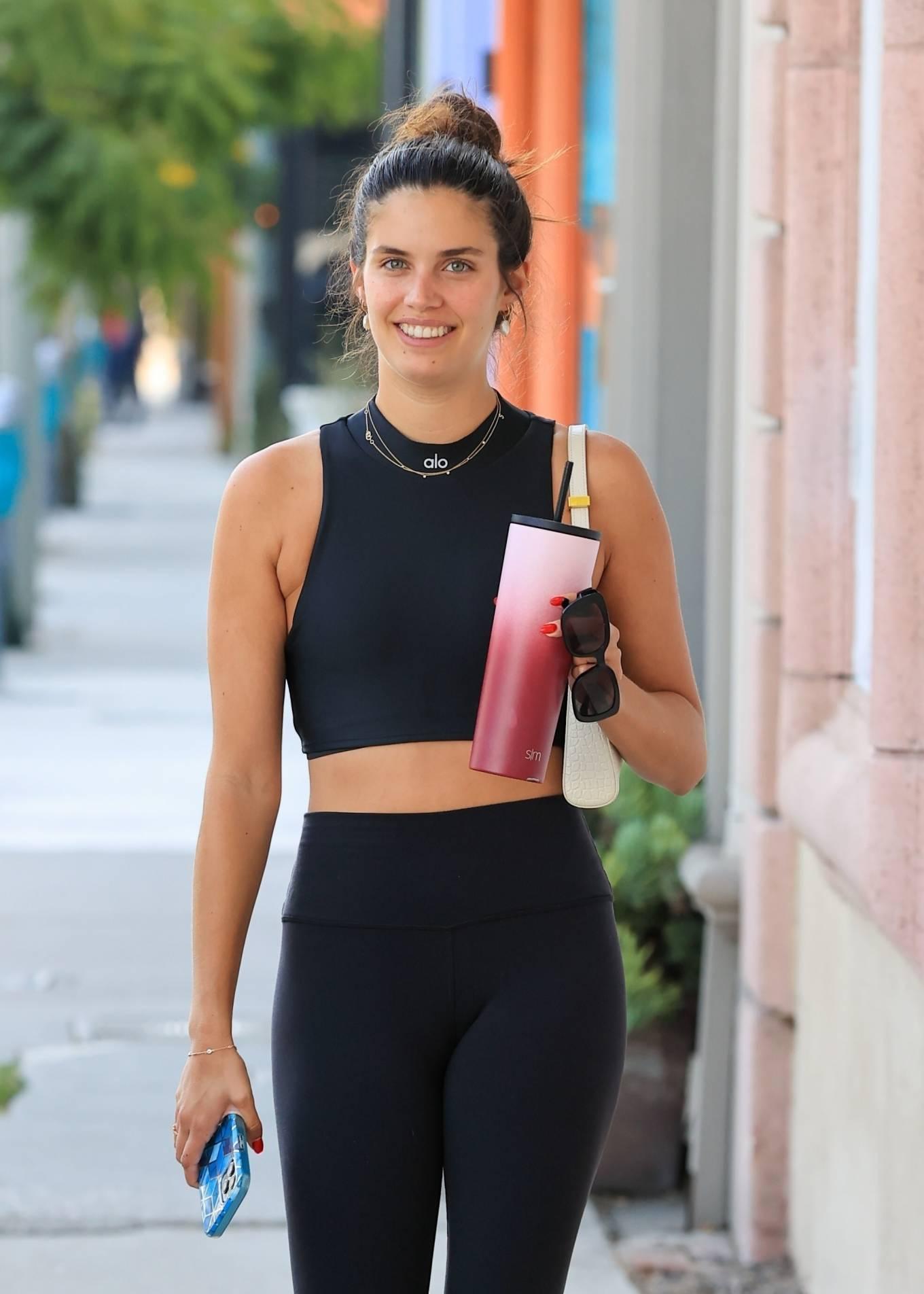 Sara Sampaio 2021 : Sara Sampaio – Out in a black Alo in West Hollywood-10
