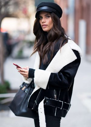 Sara Sampaio out to Fashion Week in New York