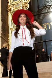 Sara Sampaio - Outside the Armani Show at Paris Fashion Week Haute Couture FW 2019-20