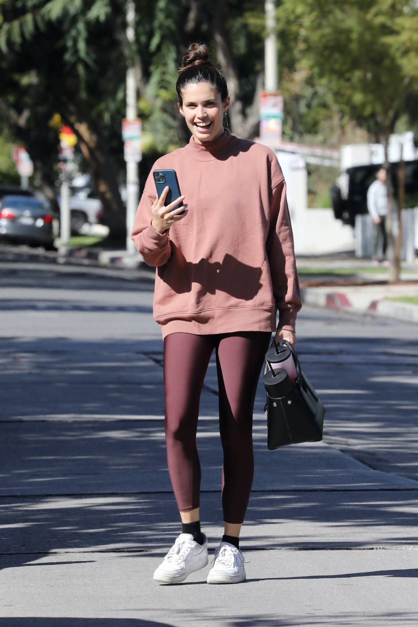 Sara Sampaio - Seen after pilates class in Los Angeles