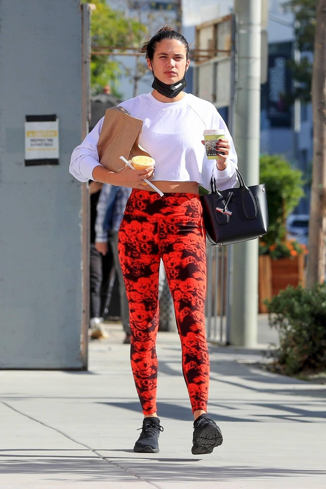 Sara Sampaio 2020 : Sara Sampaio – Seen after workout at the Dogpound gym in Los Angeles-17