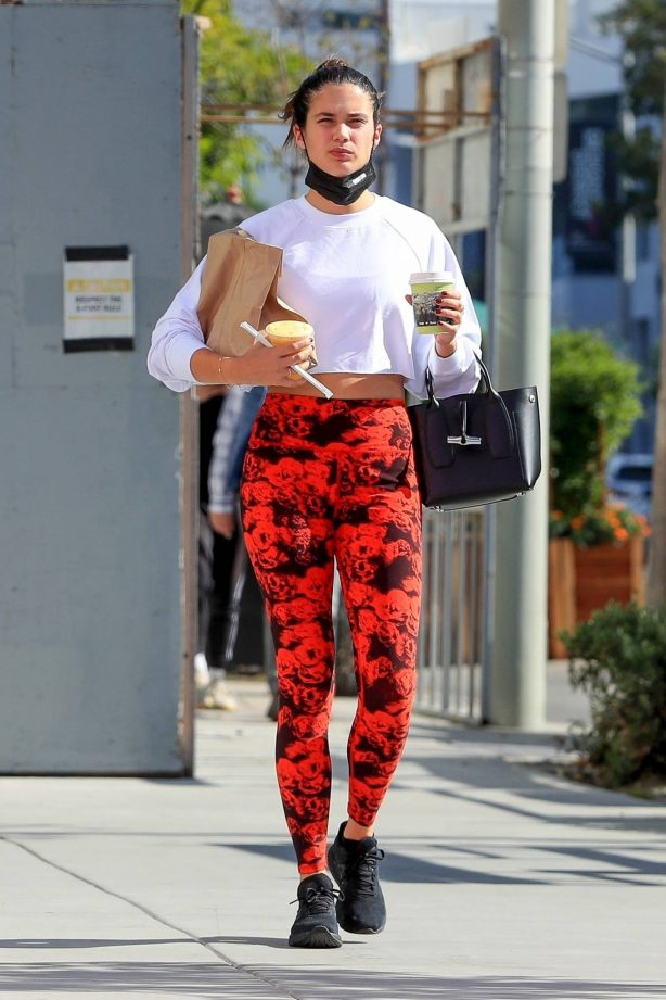 Sara Sampaio - Seen after workout at the Dogpound gym in Los Angeles