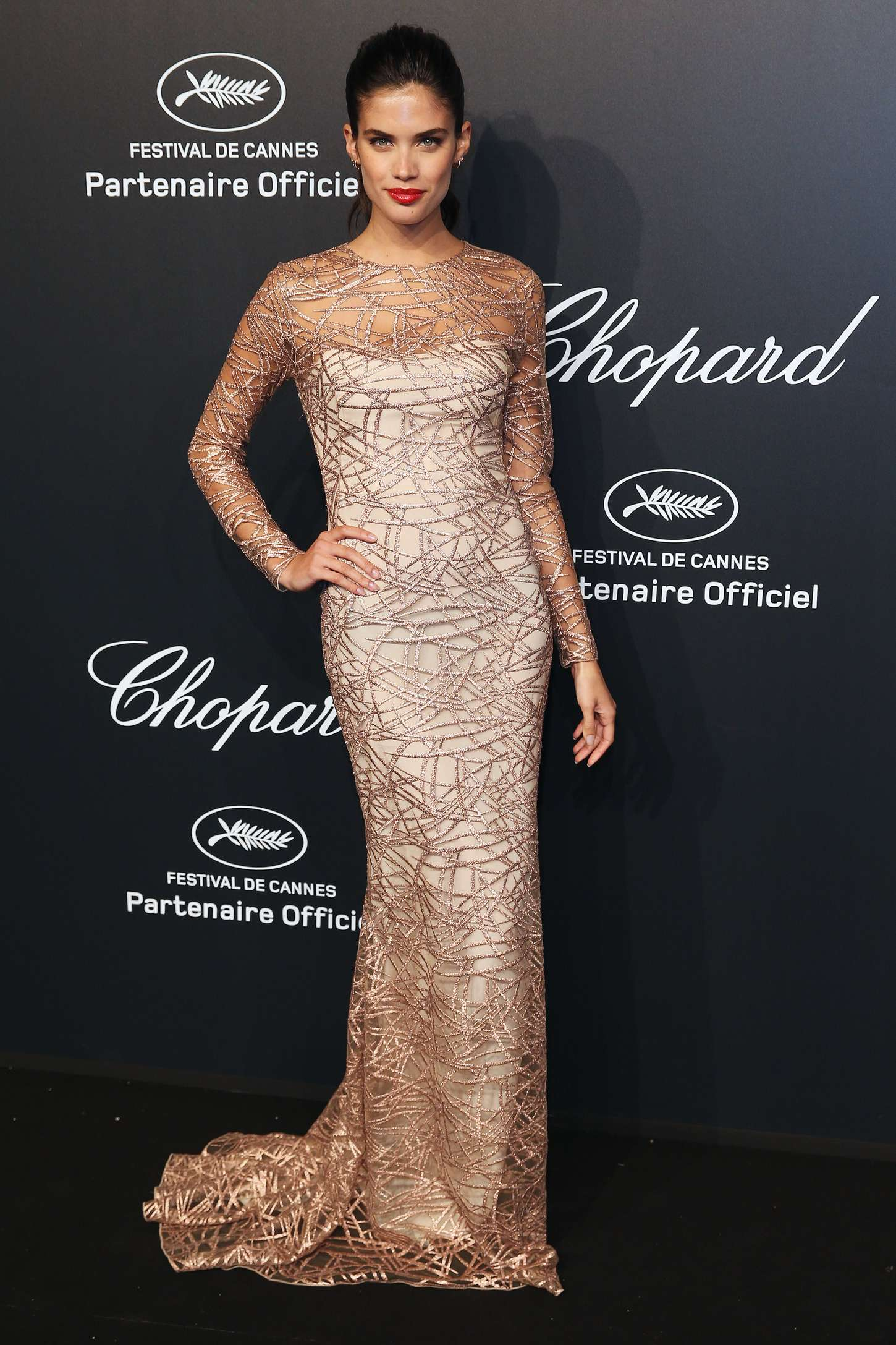 Sara Sampaio - Soiree Chopard 'Gold Party' in Cannes