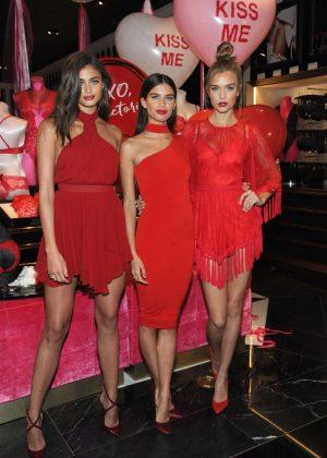Sara Sampaio, Taylor Hill and Josephine Skriver - VS Valentine's Day celebration in NY