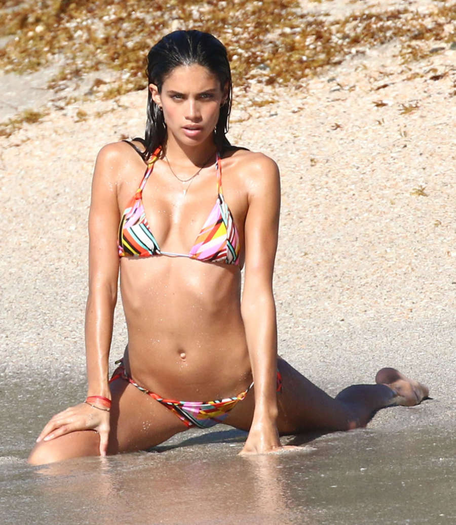Sara Sampaio - Victoria's Secret Bikini Photoshoot in St. Barts