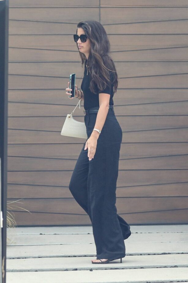 Sara Sampaio - wearing an all-black outfit