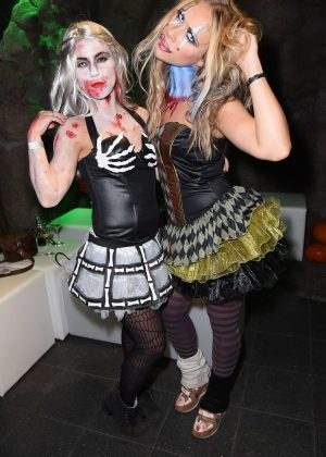 Sarah and Sina Tkotsch - Halloween Party hosted by Natascha Ochsenknecht in Mitte