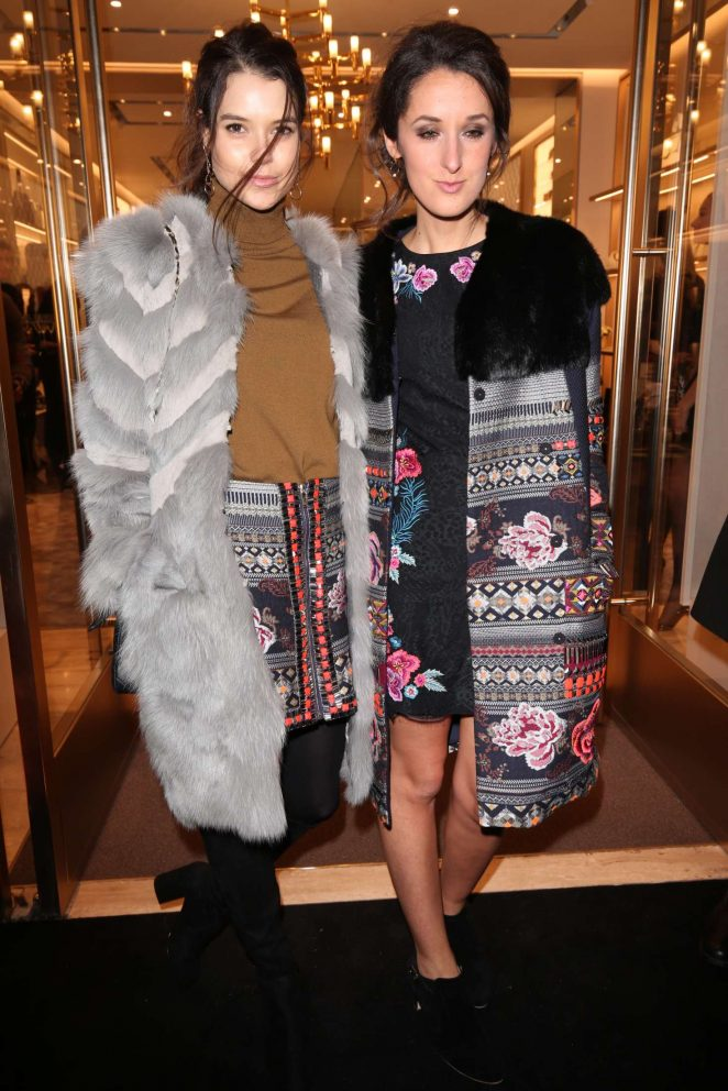 Sarah-Ann Macklin and Rosanna Falconer at Furla store launch party in London