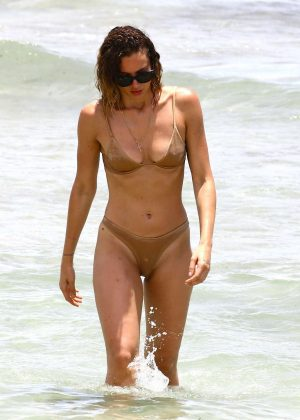 Sarah Baderna in Bikini at the beach in Miami