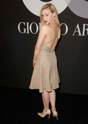 Sarah Gadon: GQ and Giorgio Armani Grammys After Party -02