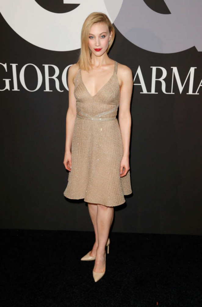Sarah Gadon - GQ and Giorgio Armani Grammys After Party in Hollywood