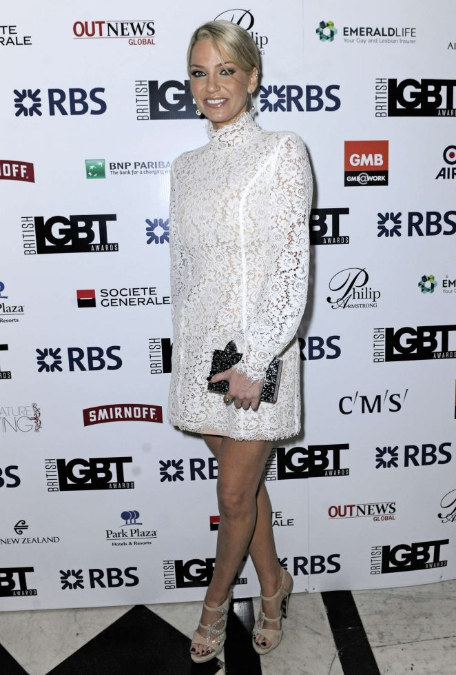 Sarah Harding - British LGBT Awards 2016 in London