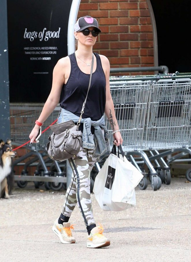 Sarah Harding Out Shopping in North London