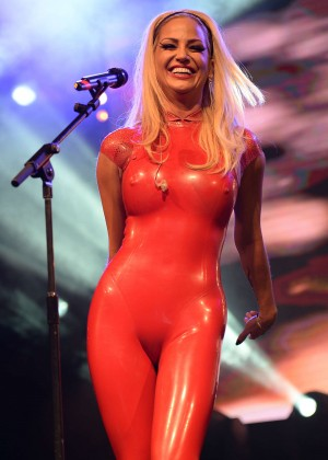 Sarah Harding - Performing at the Manchester Pride Festival in Manchester
