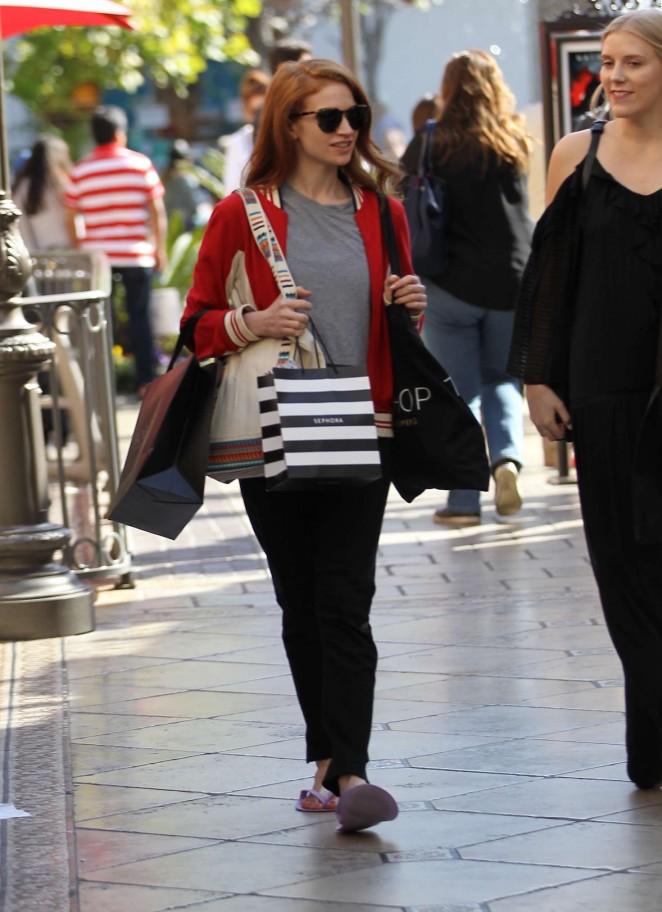 Sarah Hay – Shopping at the Grove in Hollywood