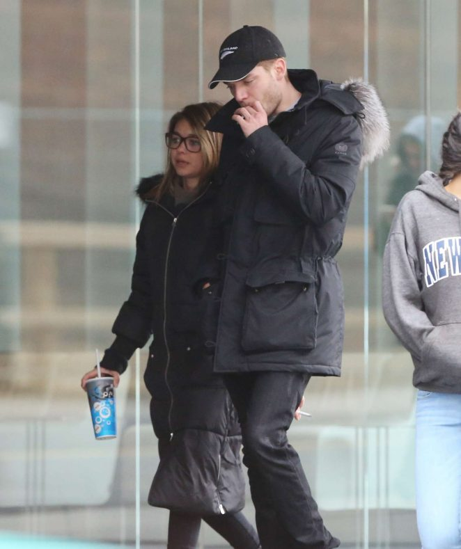 Sarah Hyland and Dominic Sherwood - Leaving Scotia Bank Theatre in Toronto