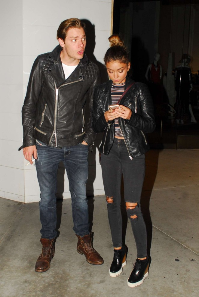 Sarah Hyland and Dominic Sherwood Night out in West Hollywod