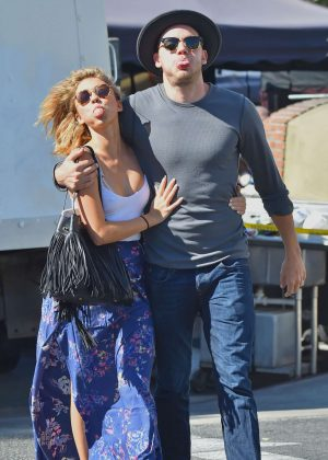 Sarah Hyland and her boyfriend out in Studio City
