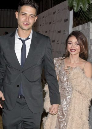 Sarah Hyland and Wells Adam - Leaving a private party in West Hollywood
