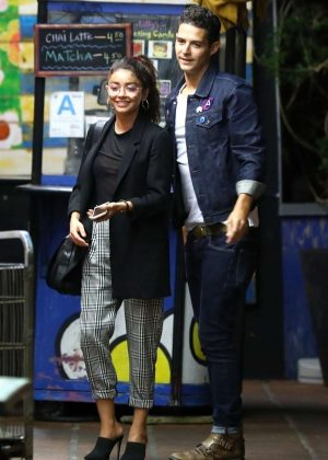 Sarah Hyland and Wells Adams - Leaving Pace restaurant in LA