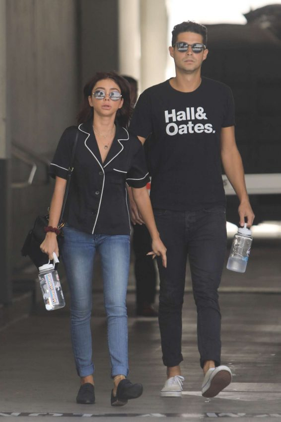 Sarah Hyland at a doctors office building in Beverly Hills
