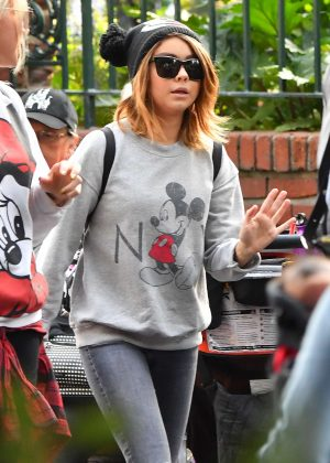 Sarah Hyland at Disneyland in LA