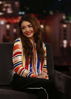 Sarah Hyland at Jimmy Kimmel Live! in Los Angeles